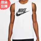 【現貨】NIKE SPORTSWEAR 男裝 無袖 背心 棉質 休閒 訓練 健身 白黑【運動世界】AR4992-101