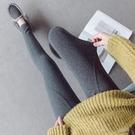 螺紋打底褲女外穿春夏新款顯瘦高腰緊身九分小腳褲子
