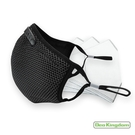 【Deo Kingdom】3D防護雙層單網布可更換濾片口罩(黑色)_房