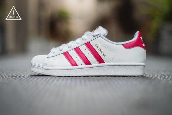 ISNEAKERS Adidas Originals Superstar B23644 桃紅色 粉紅色 金標