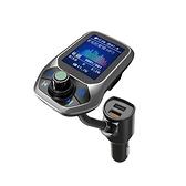 大屏車載藍芽MP3播放器U盤音樂USB智通 QC3.0車充充電器 交換禮物