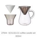 金時代書香咖啡 KINTO SCS 手沖咖啡壺組 濾紙型 600ml KINTO-27644-600