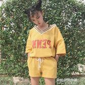 運動休閒套女新款韓國ulzzangbf風學生短袖短褲兩件套潮  朵拉朵衣櫥