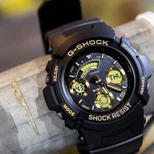 G-SHOCK AW-591GBX-1A9 指針數字雙顯錶 46mm 防水 AW-591GBX-1A9DR 金色 右款