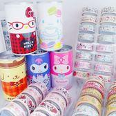 日本kitty美樂蒂布丁狗庫洛米大耳狗易開罐收納盒附膠帶捲裝飾貼133019通販屋