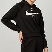 Nike NSW swsh hoodie flc bb 女款 黑 運動 帽T 連帽 上衣 CU5677-011