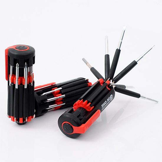 螺絲起子 手電筒 汽車用品 工具 便攜式 多功能 戶外工具 露營 八合一螺絲刀【Y050】MY COLOR