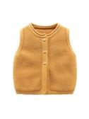 嬰兒背心春秋新生兒針織開衫馬夾男3個月寶寶馬甲女毛衣純棉坎肩