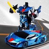 遙控車 手勢感應變形遙控汽車金剛充電動大黃蜂機器人賽車兒童男孩玩具車【快速出貨八折下殺】