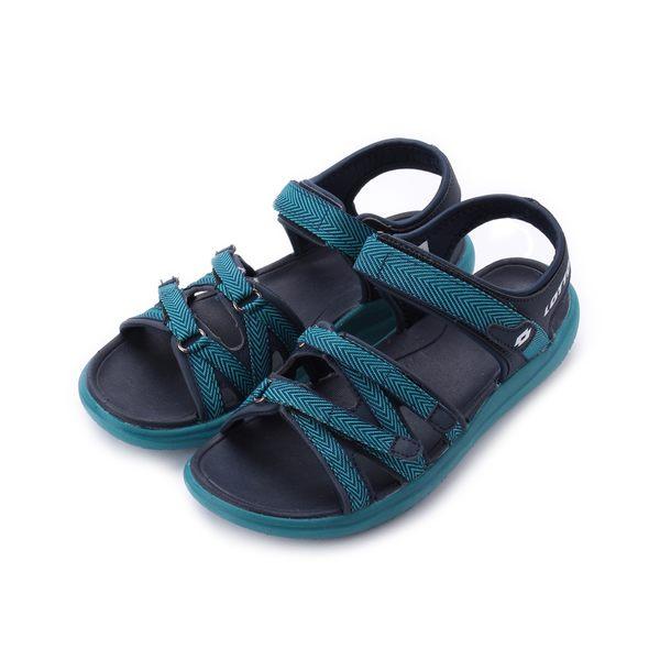 LOTTO 織帶輕涼鞋 湖水綠 LT8AWS6175 女鞋 鞋全家福