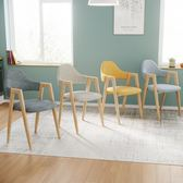 餐桌椅子時尚現代簡約餐廳北歐風餐椅成人家用凳子鐵藝北歐靠背椅