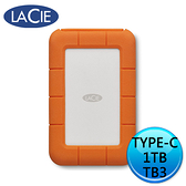 LaCie Rugged SSD 1TB Thunderbolt USB Type-C 2.5 外接式硬碟 STHR1000800