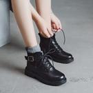 短靴 英倫風馬丁靴女夏季薄款透氣潮ins酷顯腳小短靴春秋單靴 晶彩 99免運