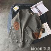 毛衣男韓版潮流個性學生原宿風新款套頭寬鬆打底長袖針織衫男     MOON衣櫥