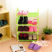 簡易經濟型多層可拆裝寢室整理收納鞋架LVV2559【棉花糖伊人】