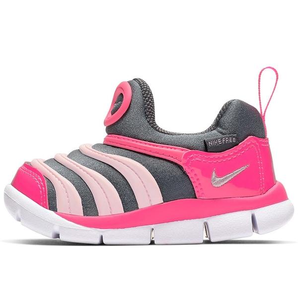 Nike Dynamo Free (TD) 童鞋 小童 慢跑 休閒 毛毛蟲 灰 粉【運動世界】 343938-019