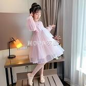 女童洋裝裝2021新款春季衛衣裙兒童洋氣童裝女孩長袖裙子潮 快速出貨