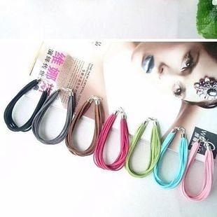 大人款 飾品 簡約時尚 8色多層絨皮繩 手鏈/手鐲 7G