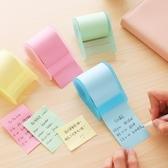 彩色便利貼可撕卷式便利貼滾筒式便貼粘性強紙便簽紙