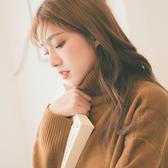 MUMU【N24546】素面高領落肩針織毛衣。六色