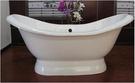 【麗室衛浴】BATHTUB WORLD NH-1010   微笑曲線 高級獨立式鑄鐵浴缸  1524*765*570/720mm