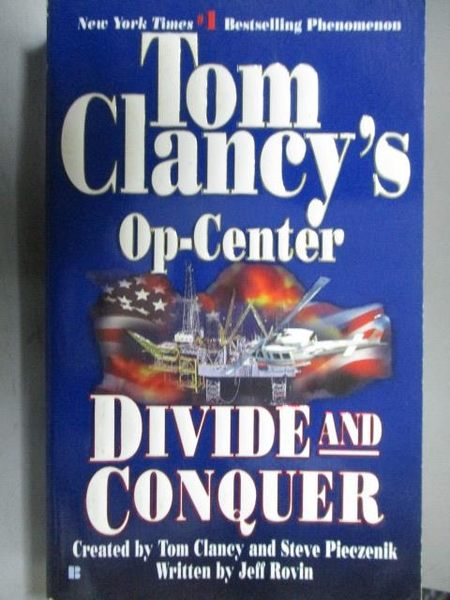 【書寶二手書T6/原文小說_ORF】Tom Clancy s Op-Center_Divide and Conquer
