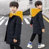 男童棉衣新款冬裝兒童羽絨棉服洋氣中大童加厚中長款棉襖  極有家