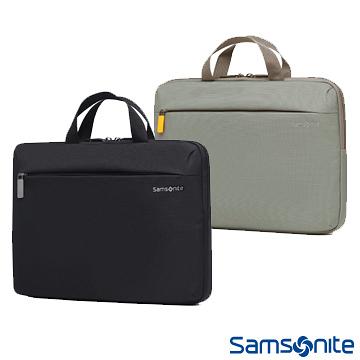 【海思】Samsonite DENDI-ICT BP5*001- 灰色/黑色 13.3吋 筆電手提包(附肩背帶)