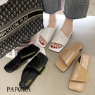 PAPORA韓版柔軟舒適百搭拖鞋涼鞋鞋KK1425白色/黑色/卡其