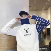 毛衣男-慵懶風男士高領毛衣男冬季韓版潮流潮學生套頭寬鬆原宿風加絨加厚 多麗絲