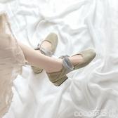 瑪麗珍鞋瑪麗珍粗跟單鞋女秋新款網紅蝴蝶結綁帶百搭學生仙女風一腳蹬春季特賣