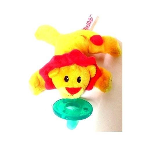 【SA01】美國 WubbaNub 動物娃娃奶嘴+Shootie 奶嘴-小獅子 -超級BABY