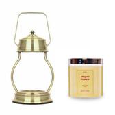 (組)EPOCHSIA x Pray 守夜人金屬香氛蠟燭暖燈(L)-復古金+梅爾