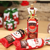 聖誕飾品 耶誕紅酒瓶套 派對酒瓶裝飾 麋鹿雪人 交換禮物 慶祝【PMG289】收納女王