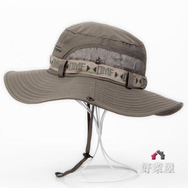 帽子戶外帽子男夏天漁夫帽遮陽帽男士草帽防曬太陽帽夏季韓版潮釣魚帽釣魚帽 交換禮物