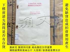 二手書博民逛書店Cancer罕見Pain ManagementY11418 De