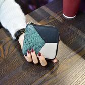 韓版拼接短款小錢包女士時尚牛皮折疊撞色皮夾錢夾 奇思妙想屋