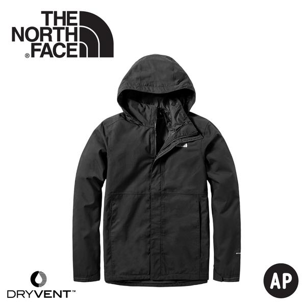 【The North Face 男 DryVent防水外套《黑》】3VSC/防水外套/防風外套/保暖外套