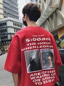 萬聖節快速出貨-超火的短袖男韓版潮流寬鬆T恤嘻哈潮牌情侶裝半袖
