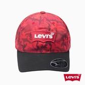 Levis 男女同款 棒球帽 / 紅迷彩 / FlEXFIT 110專利科技
