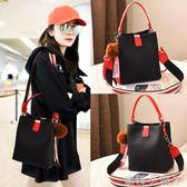 手提包女包新款包包女韓版側背包時尚簡約百搭女士水桶包單肩 蘿莉小腳丫