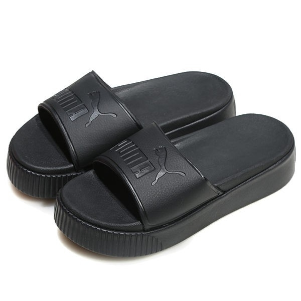 PUMA PLATFORM SLIDE BOLD -女款全黑增高拖鞋- NO.36706401