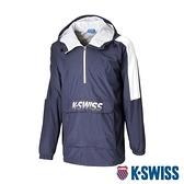 K-SWISS HS Hoodie韓版連帽上衣-男-深藍