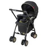 Aprica愛普力卡 Soraria四輪自動定位導向型嬰幼兒雙向手推車(星空黑)