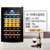 紅酒櫃confidence/康菲帝斯CW-70FD红酒柜恒温酒柜家用小冷藏冰吧玻璃 海角七號