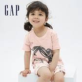Gap嬰兒 Gap x Star Wars星際大戰系列純棉短袖套裝 682820-淡粉色