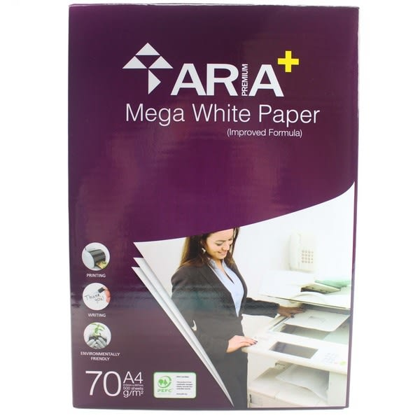 ARIA A+ A4影印紙 加厚70磅(雪白色)/一包500張入 70磅影印紙