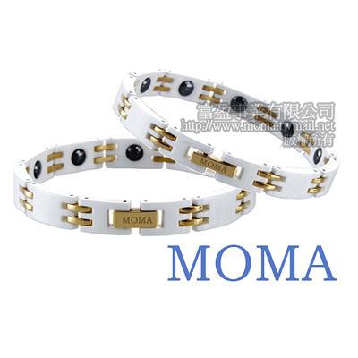 【MOMA】陶瓷鍺磁手鍊-M67G對鍊-情人對鍊