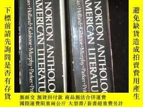 二手書博民逛書店The罕見Norton Anthology of American Literature 《諾頓美國文學選集》 兩