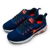 LIKA夢 ARNOR 輕量Q彈避震科技動能慢跑鞋 LUNAR RUN 1 系列 藍橘 73266 男